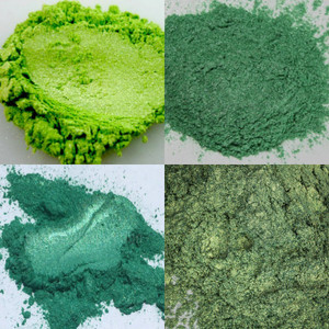 Fresh Green, Green Fairy, Pine Forest Green, Jungle Green Mica Collection
