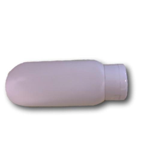 6 oz white tottle bottle (malibu bottle) with flip cap included