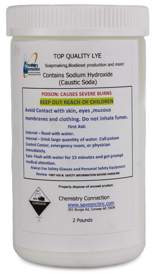 Sodium Hydroxide Lye 2Lb container
