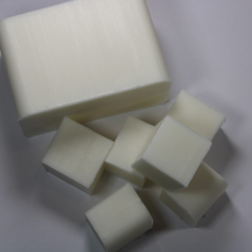 White Melt and Pour Soap Base Cut