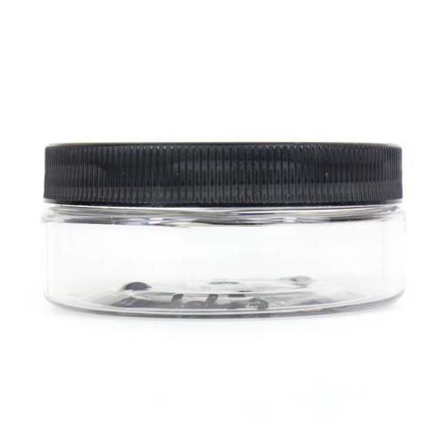 4 Oz PET Low-Profile Clear Jar