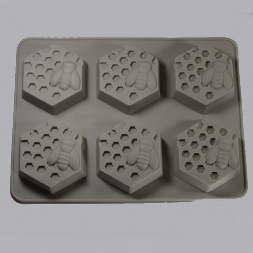 Bee and Honeycomb 6 Cavity Mold exterior