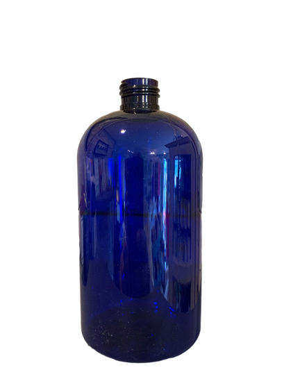 16 oz bottle Blue Boston Round