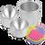 Bath Bomb Mold Aluminum Bath Bomb Mold 3 inch bath bomb mold for pneumatic bath bomb press