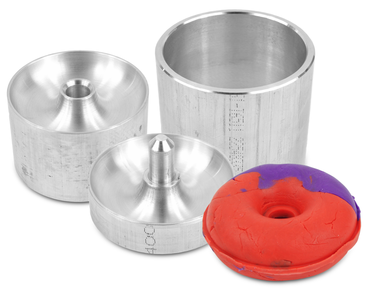 2 Pieces Assorted Size Metal Donut Bath Bomb Molds to Make Unique Cute Homemade or Business Bath Bombs DONUTS