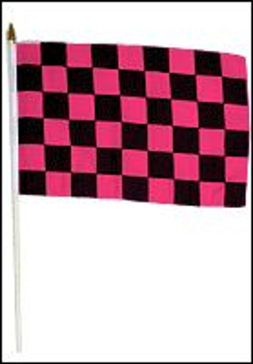 12x18/' Checkered Wooden Stick Flag NEW