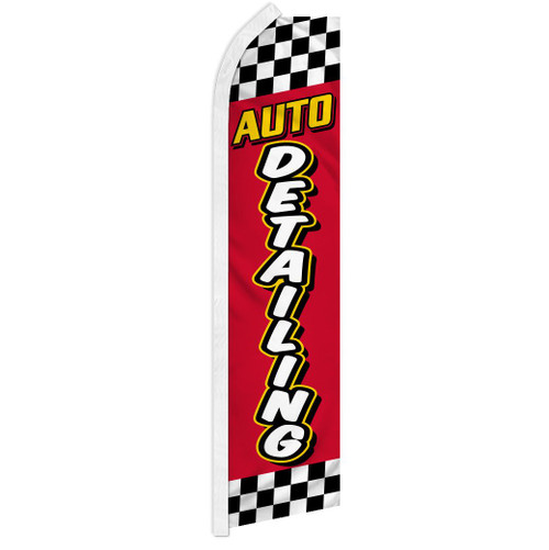 Auto Detailing (Red & Yellow) Super Flag