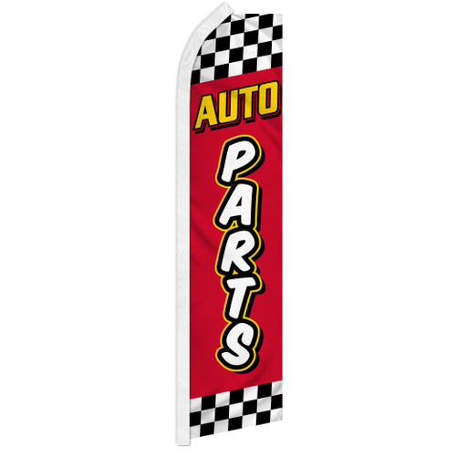 Auto Parts  (Red & Yellow) Super Flag