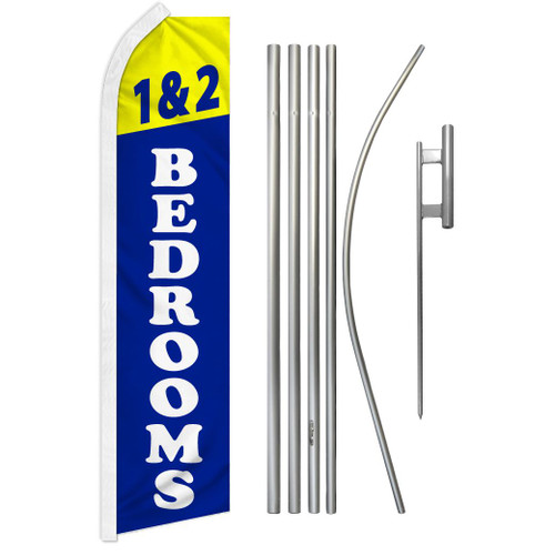 1 & 2 Bedrooms Super Flag & Pole Kit