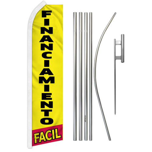 Financiamiento Facil Super Flag & Pole Kit