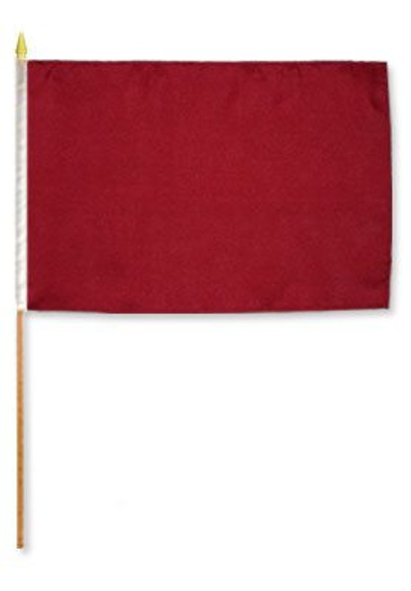 Burgundy Solid Color 12x18in Stick Flag