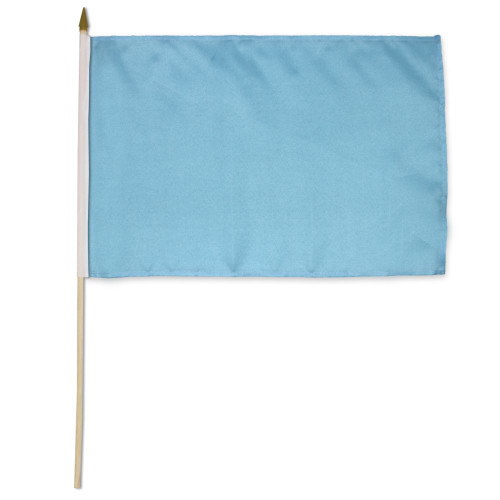 Light Blue Solid Color 12x18in Stick Flag