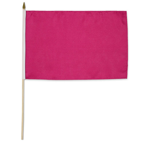Magenta Solid Color 12x18in Stick Flag