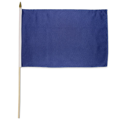 Navy Blue Solid Color 12x18in Stick Flag