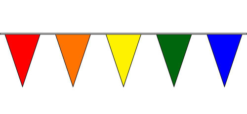 30ft Solid Color Pennant String Flags
