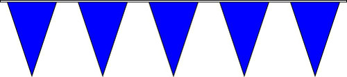 100ft Solid Blue Pennant String Flags