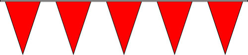 100ft Solid Red Pennant String Flags