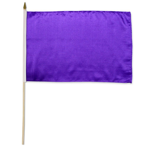 Purple Solid Color 12x18in Stick Flag