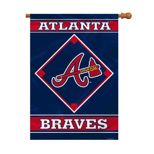"Atlanta Braves 28"" x 40"" 1- Sided House Banner"