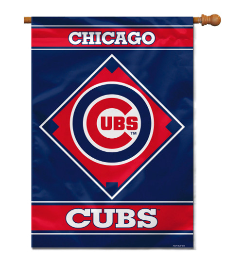 "Chicago Cubs 28"" x 40"" 1- Sided House Banner"