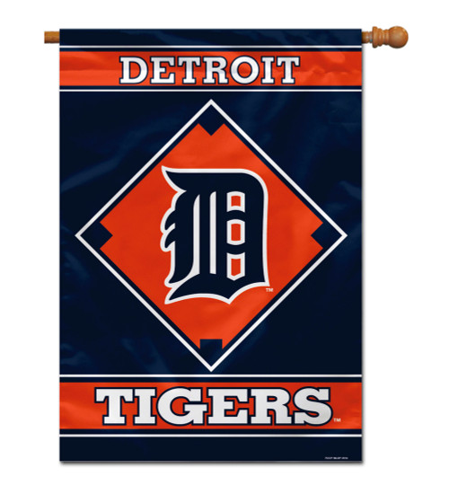 "Detroit Tigers 28"" x 40"" 1- Sided House Banner"