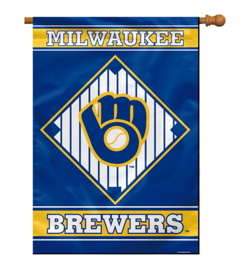 """Milwaukee Brewers 28"""" x 40"""" 1- Sided House Banner"""