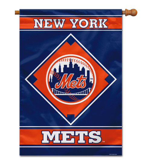 """New York Mets 28"""" x 40"""" 1- Sided House Banner"""