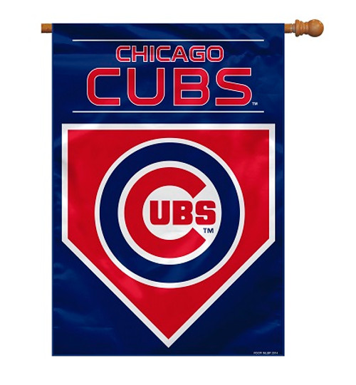 "Chicago Cubs 28"" x 40"" 2 - Sided House Banner"