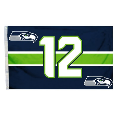 Seattle Seahawks 3 Ft. X 5 Ft. Man Cave Flag W/Grommets
