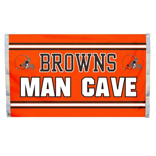 Cleveland Browns Man Cave 3 x 5 Flag w/ 4 Grommets