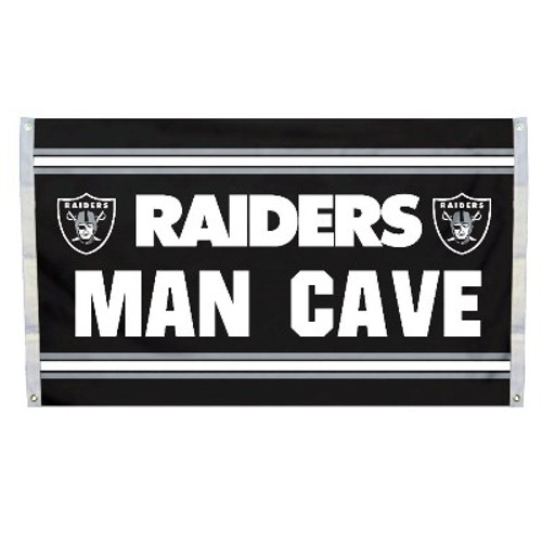 Oakland Raiders Man Cave 3 x 5 Flag w/ 4 Grommets