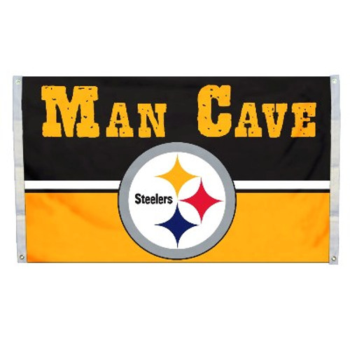 Pittsburgh Steelers Man Cave 3 x 5 Flag w/ 4 Grommets