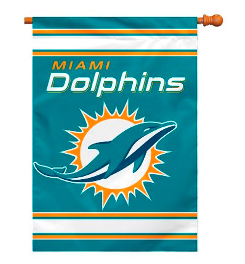 """Miami Dolphins """"28 X 40"""" 2-Sided House Banner"""