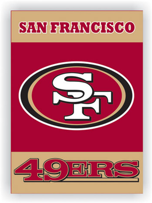 """San Francisco 49Ers """"28 X 40"""" 2-Sided House Banner"""