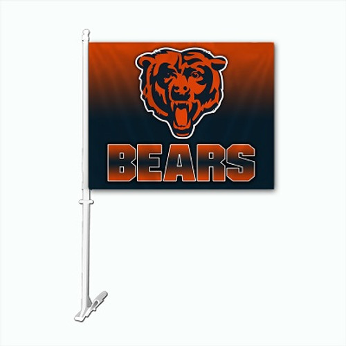 Chicago Bears NFL Car Flag