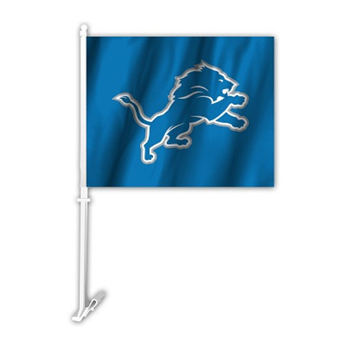 Detroit Lions NFL Car Flag