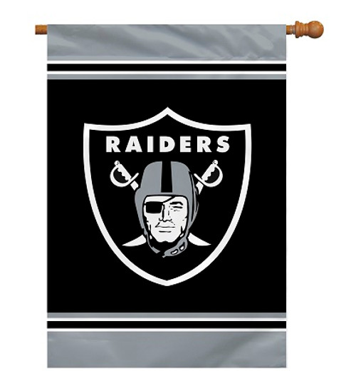 "Oakland Raiders 28"" x 40"" 1- Sided House Banner"