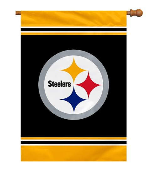 "Pittsburgh Steelers 28"" x 40"" 1- Sided House Banner"