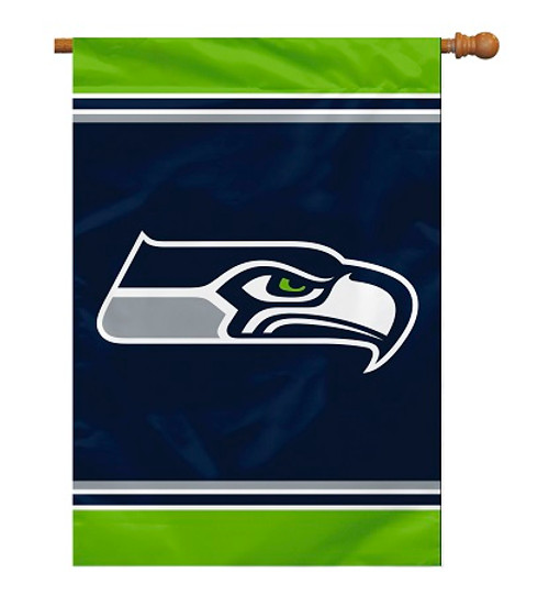 "Seattle Seahawks 28"" x 40"" 1- Sided House Banner"