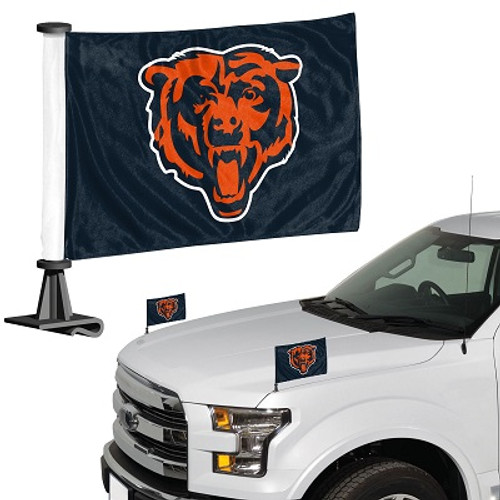 "Chicago Bears Ambassador 4"" x 6"" Car Flag Set of 2"