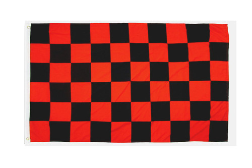 Red & Black Checkered Flag 2x3ft Poly