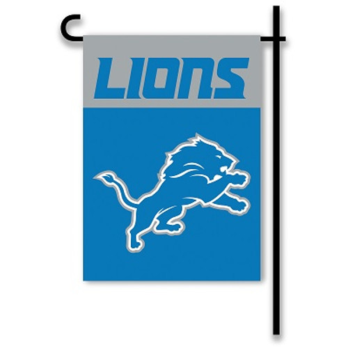 "Detroit Lions 13"" x 18"" 2-Sided Home / Yard Flag"