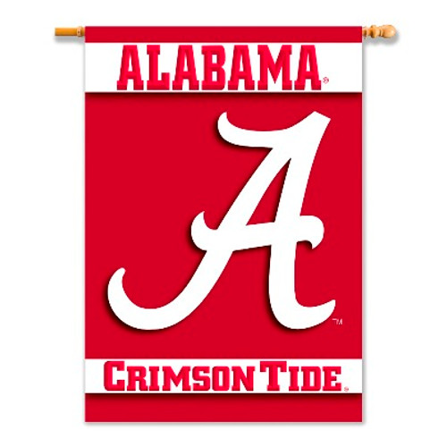 "Alabama Crimson Tide 2-Sided 28"" X 40"" Banner W/ Pole Sleeve"
