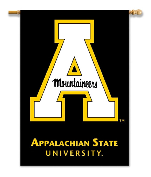 """Appalachian State Mountaineers 2-Sided 28"""" X 40"""" Banner W/ Pole Sleeve"""