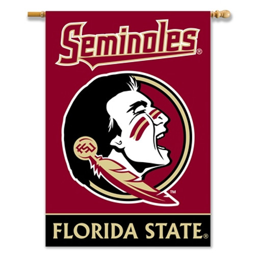 """Florida State Seminoles 2-Sided 28"""" X 40"""" Banner W/ Pole Sleeve"""