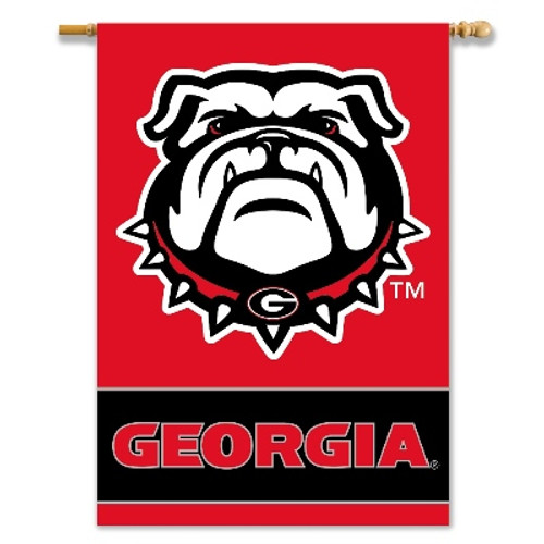 "Georgia Bulldogs 2-Sided 28"" X 40"" Banner W/ Pole Sleeve"