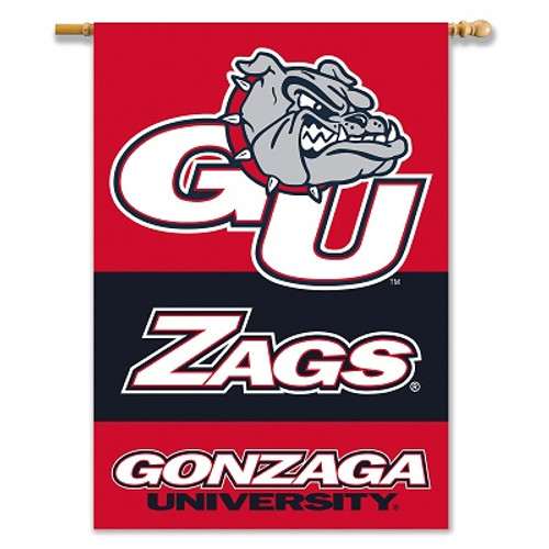 "Gonzaga Bulldogs 2-Sided 28"" X 40"" Banner W/ Pole Sleeve"