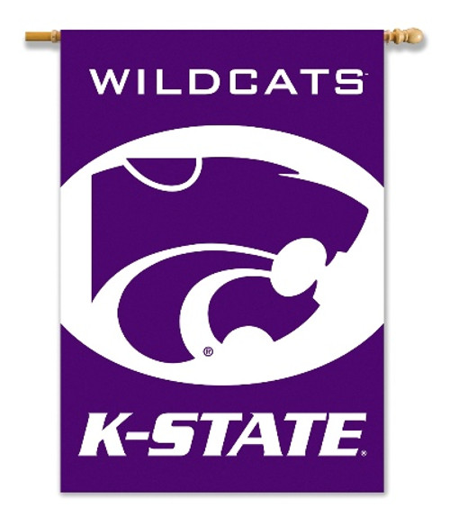 "Kansas State Wildcats  2-Sided 28"" X 40"" Banner W/ Pole Sleeve"