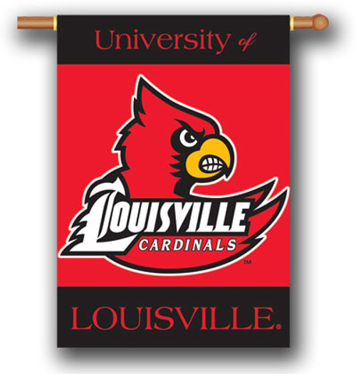 "Louisville Cardinals 2-Sided 28"" X 40"" Banner W/ Pole Sleeve"