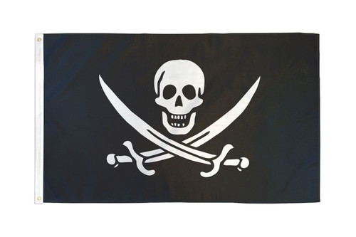 Jack Rackham Pirate Flag 2x3ft Poly